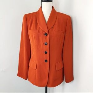 Vintage Atrium Collection Orange Blazer Jacket 10